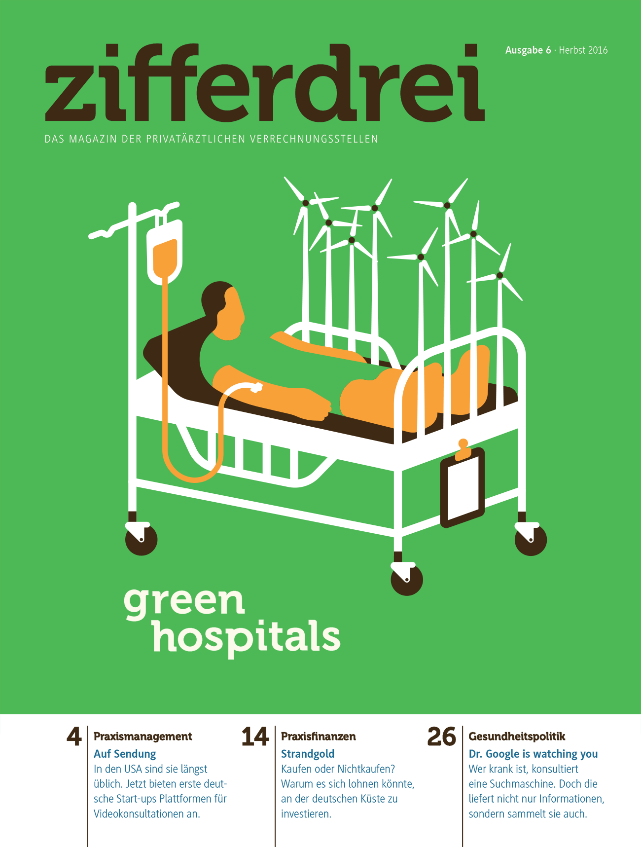 Green hospitals. Zifferdrei